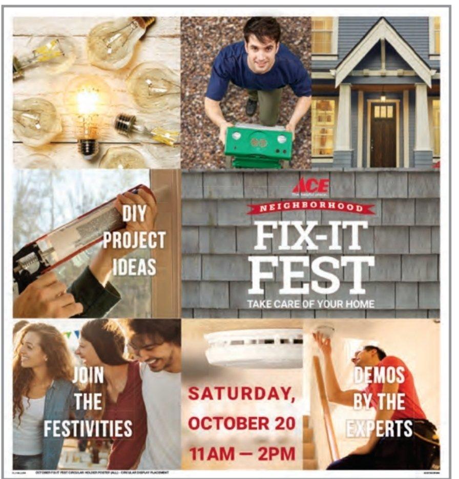 Ace FIX IT FEST  OCTOBER 20TH thumbnail