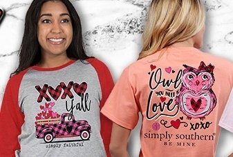 Simply Southern Valentine Tees thumbnail