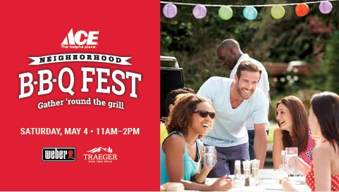 ACE BBQ FEST MAY 4, 11AM-2PM thumbnail