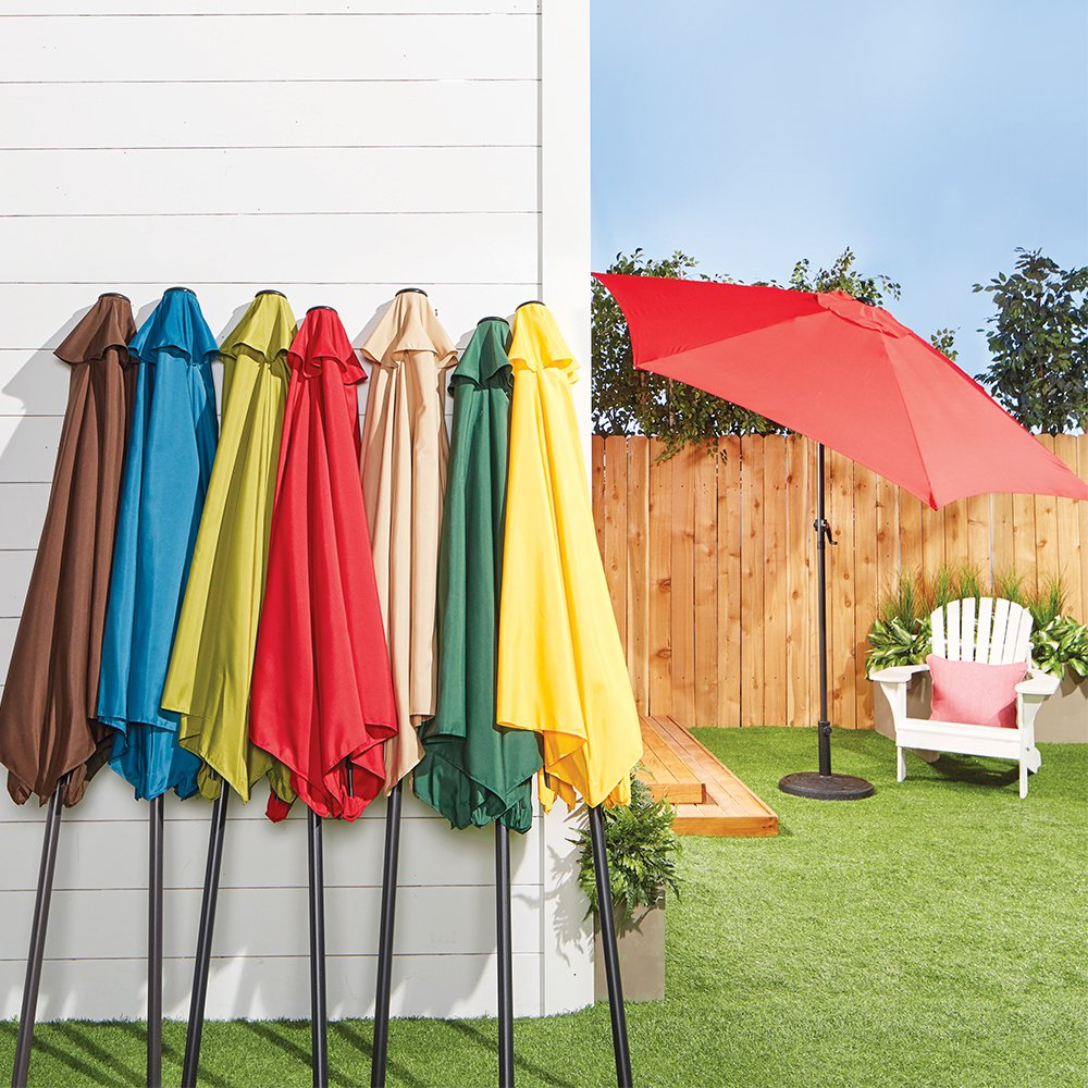 Take a break from the sun, and pick up one of our assorted color patio umbrellas for only $29.99. thumbnail