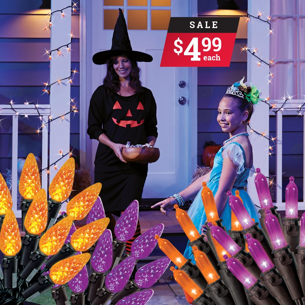 Make your home the spookiest on the block with these 50ct Halloween light sets for only $4.99. *Sale ends October 31st. thumbnail