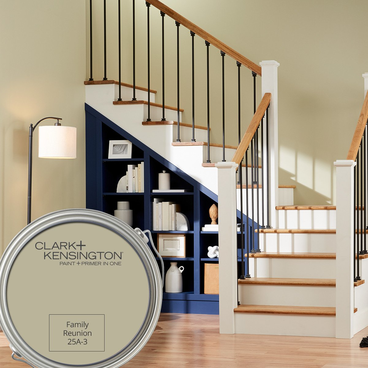 Check out our October Color of the Month, Family Reunion by Clark & Kensington. This neutral shade works everywhere, which room would you paint with it? thumbnail