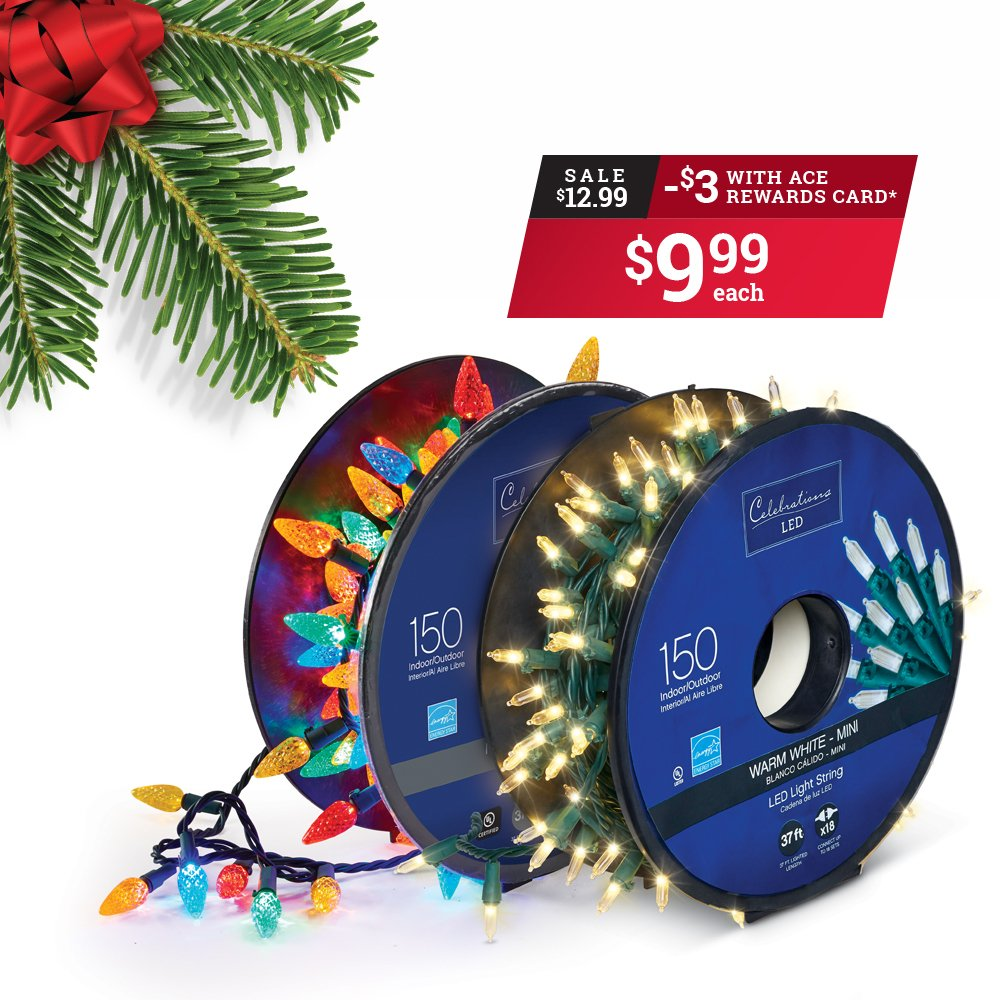 Ace Reward Members brighten up your home and save $3 on 150 ct. LED Reel Lights Sets. *Offer valid at participating locations from December 3rd to December 15th. thumbnail