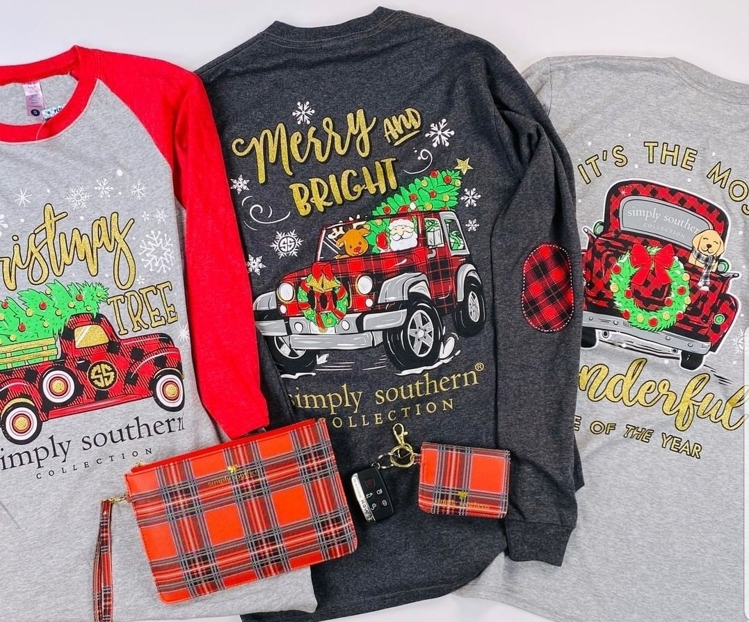 Simply Southern Christmas tees, Buy one get one 50% off! *Available in our Williamston location. thumbnail