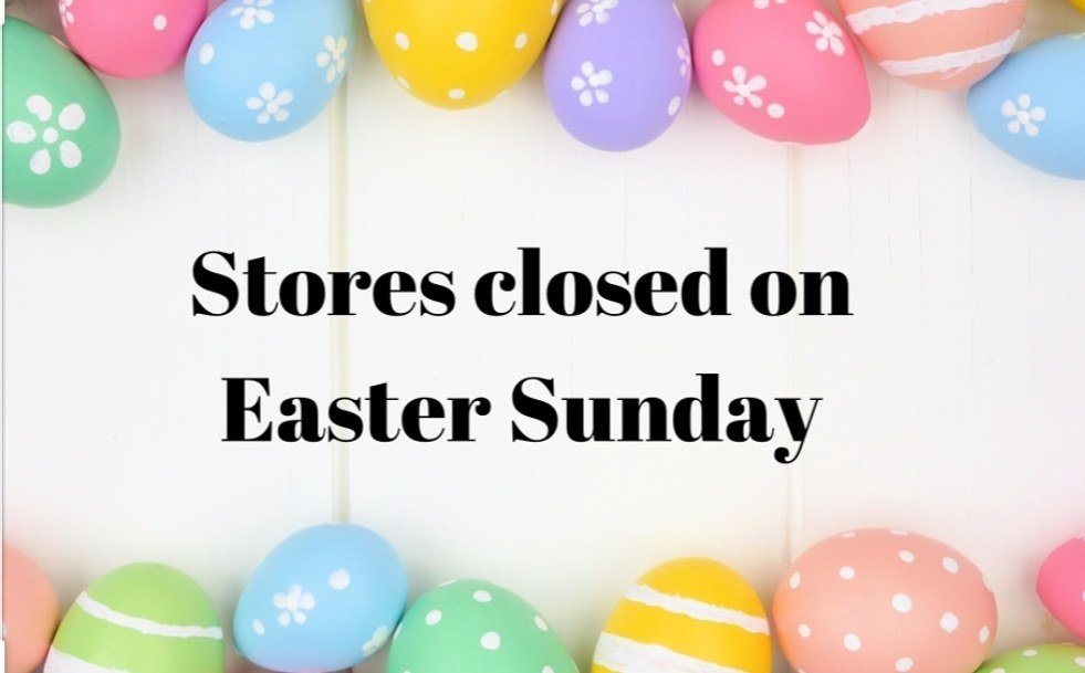 Our Williamston and Honea Path Stores will be closed for Easter Sunday. thumbnail