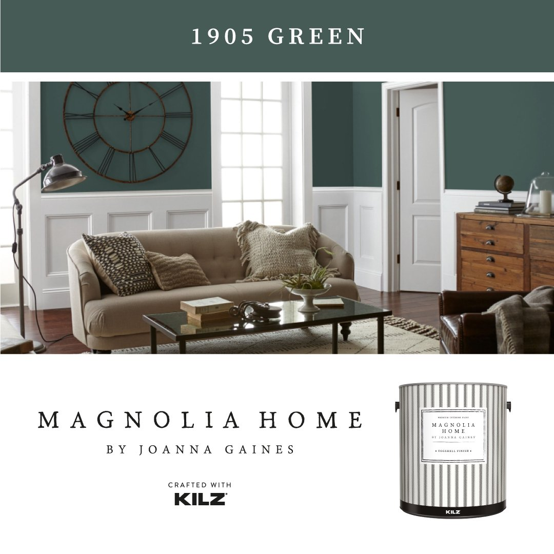 Introducing 1905 Green, the newest addition to the Magnolia Home paint color collection. thumbnail