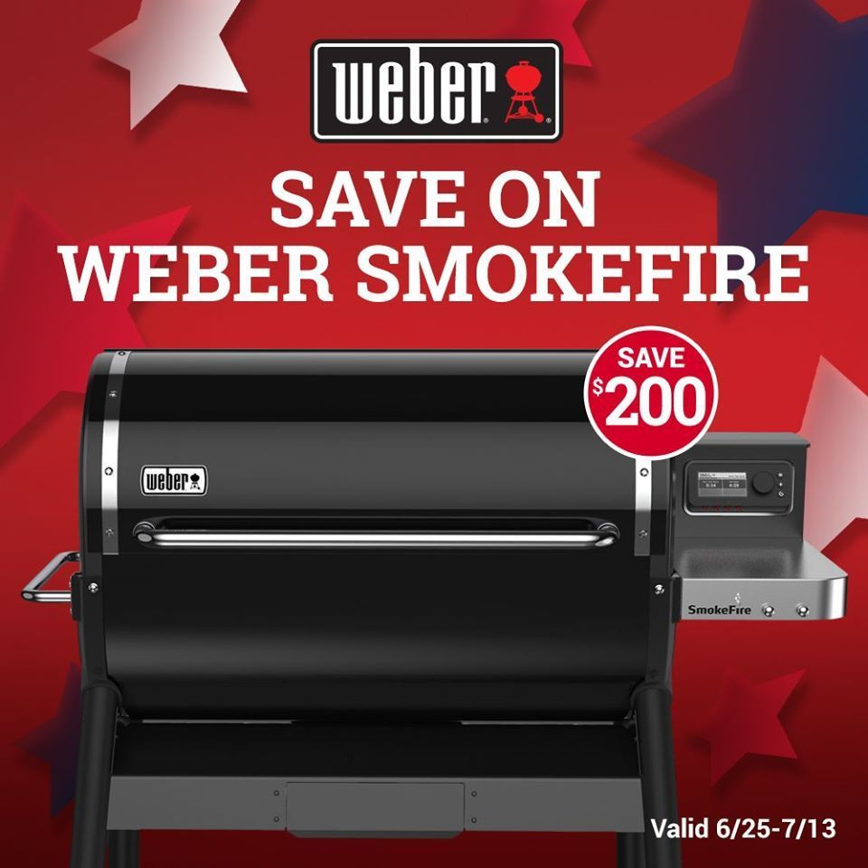 ⏩ A Smokin' Great Deal! ⏪Save $200 on Weber Smokefire grill today now thru July 13, 2020! thumbnail