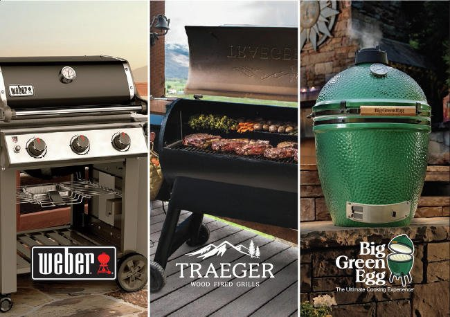 The Best names in Grilling are right here in your neighborhood! Traeger, Big Green Egg and Webber! Come see us and let us help you find the perfect Grill! thumbnail