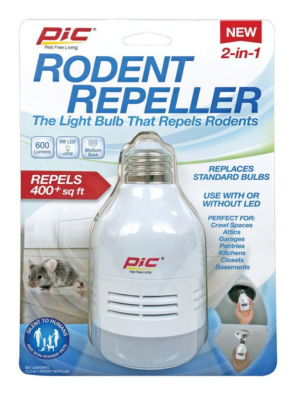 Sonic Rodent Repeller with LED Light thumbnail