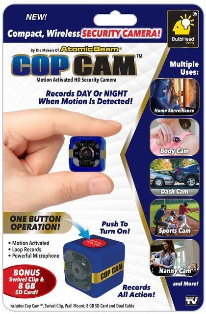 Cop Cam™ Motion Activated Compact Wireless Security Camera thumbnail
