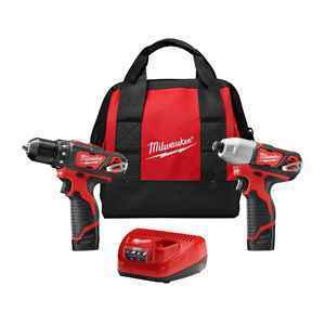 Milwaukee 2 Piece M12 Impact Driver & Drill Combo Kit thumbnail