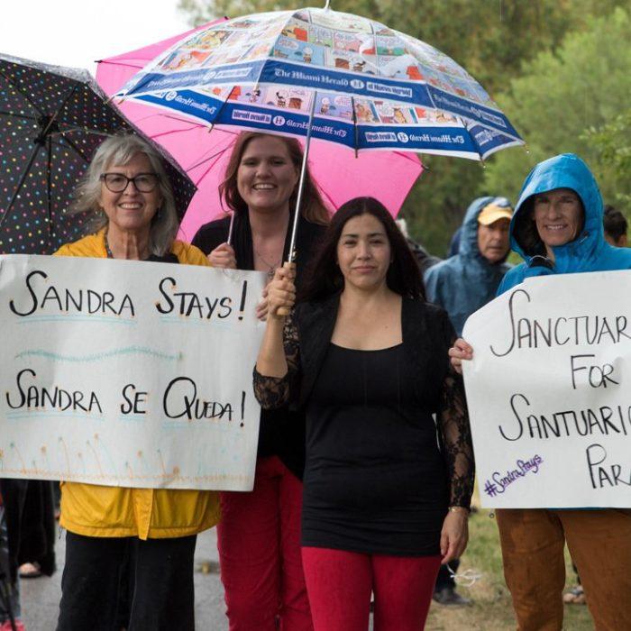 Sandra Lopez leaves Sanctuary after 10 months of solitude thumbnail