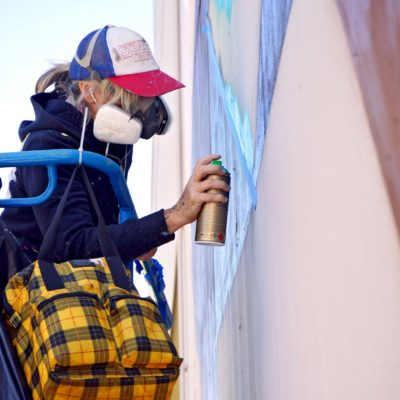 New large-scale mural takes shape near Fourth Street thumbnail