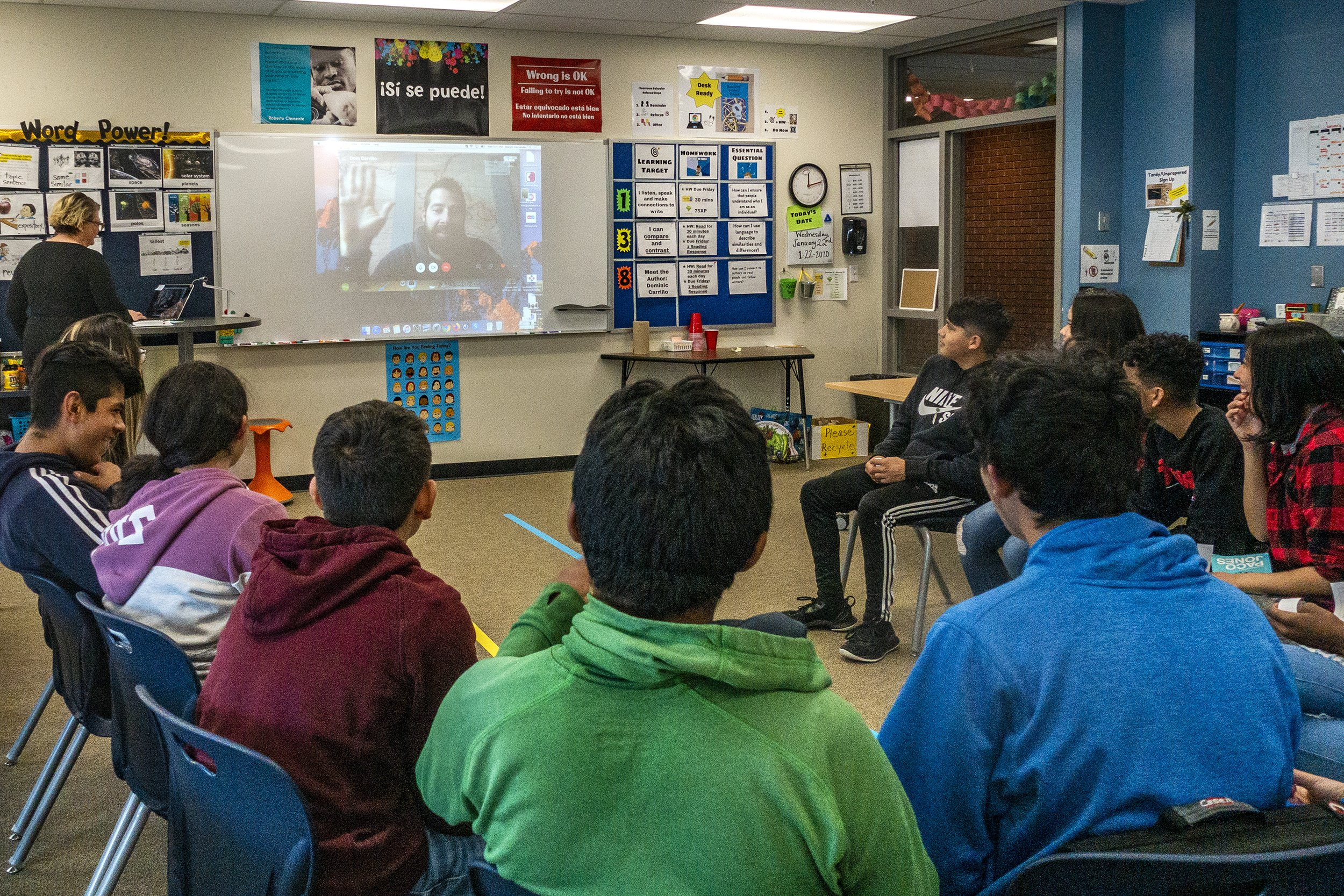 Video conferencing connects author, ELD middle schoolers thumbnail