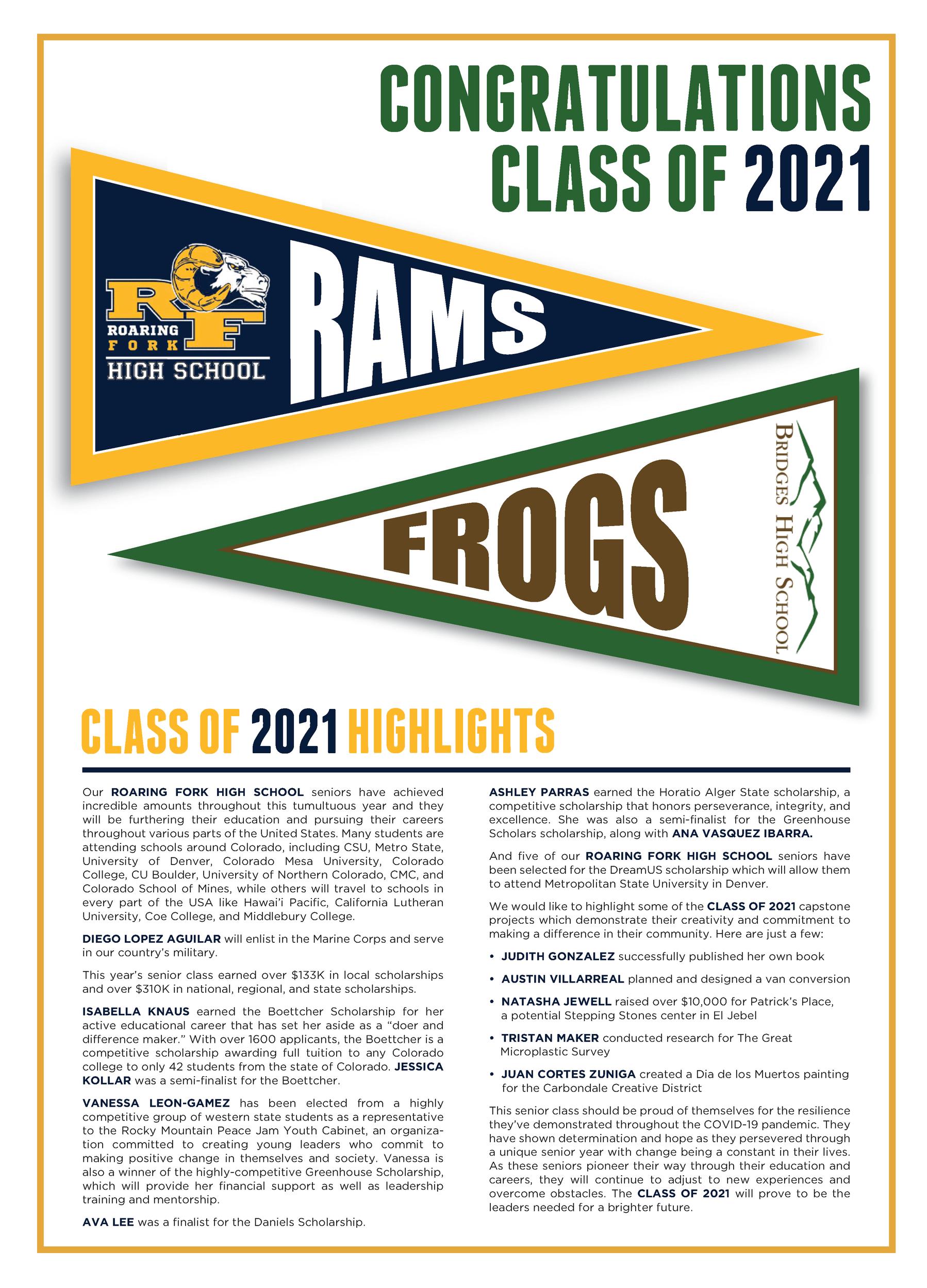 RFHS & Bridges Classes of 2021 thumbnail
