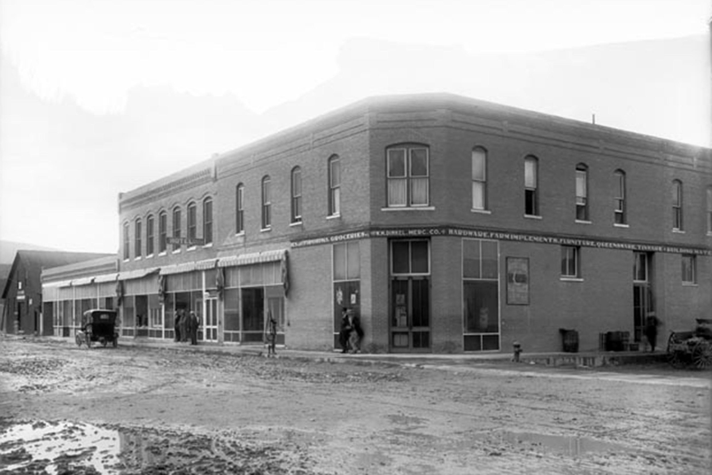 The Dinkel building was an important hub in Carbondale's early days. Photo courtesy of the Carbondale Historical Society