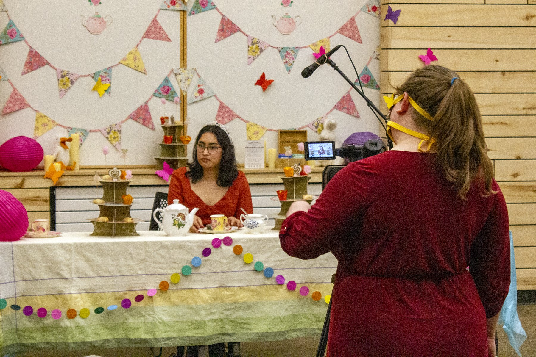BRL staff members chipped in to make the tea tutorial video. Photos by James Steindler