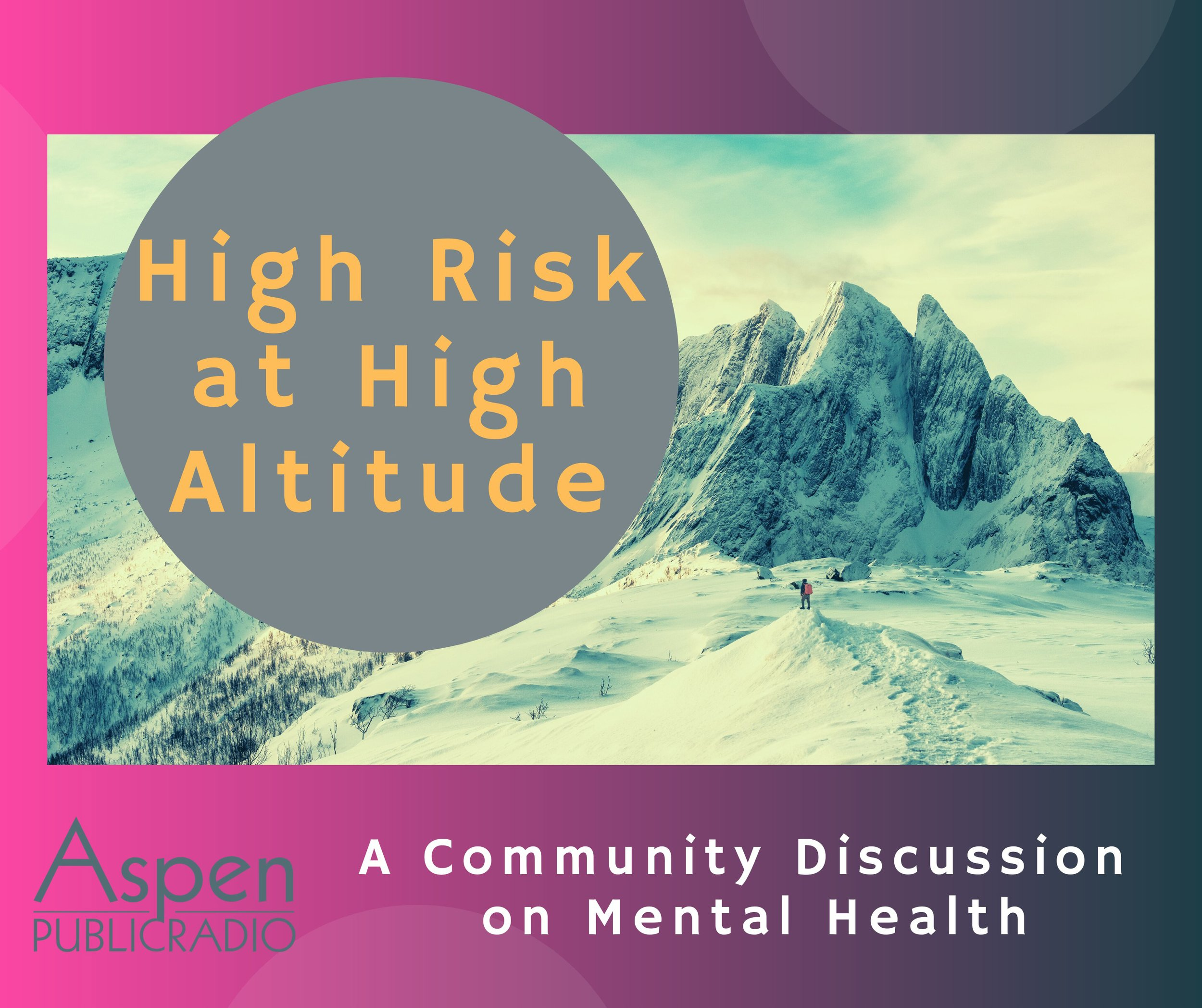 Ariel Van Cleave, news director at APR, launched High Risk at High Altitude on Dec. 1 - a program dedicated to discussing mental wellness in the Roaring Fork Valley. Photo Credit: Lauri Jackson of APR