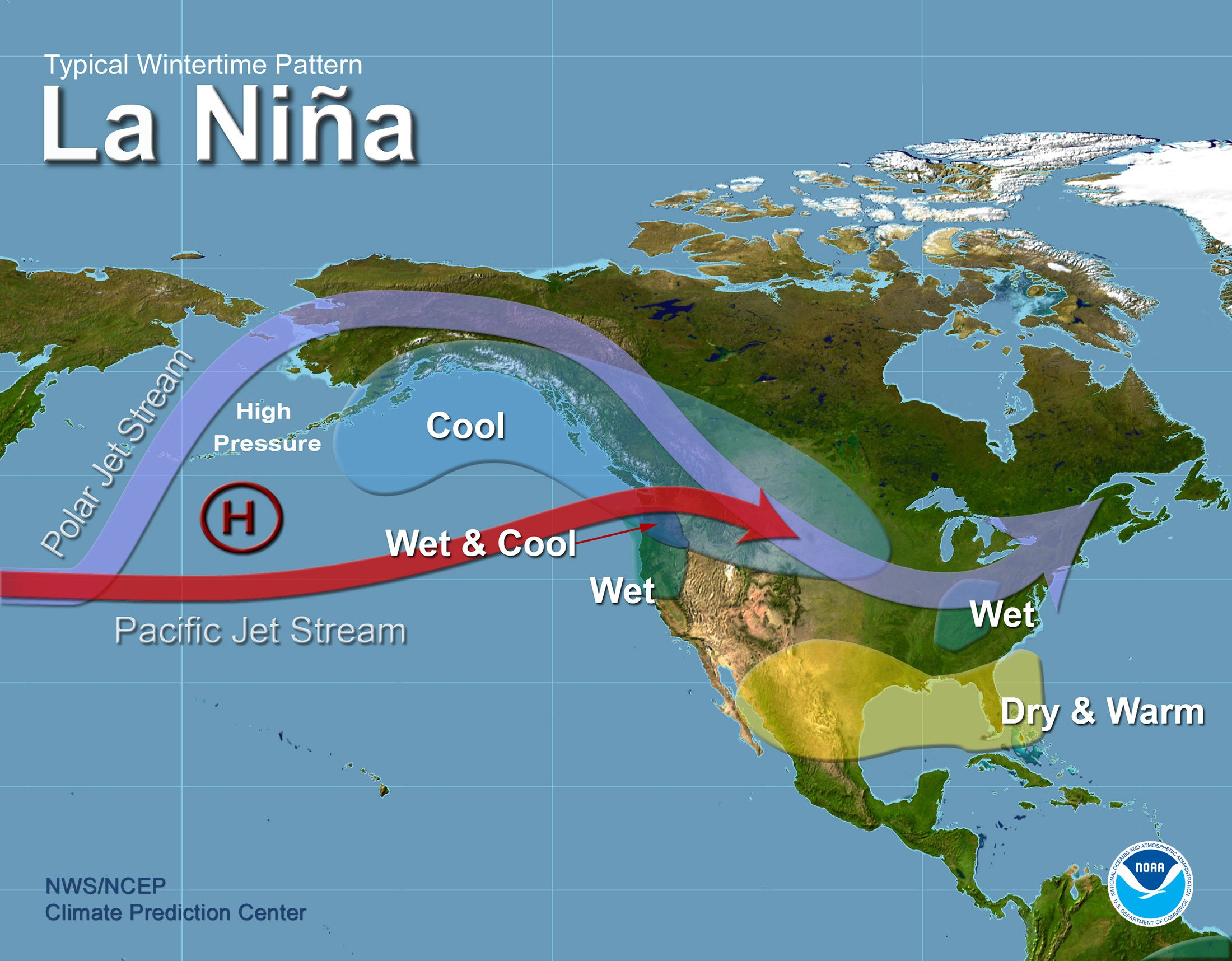 La Niña means that water temperatures in the Central Pacific Ocean are lower than average for at least three months in a row. Courtesy graphic.
