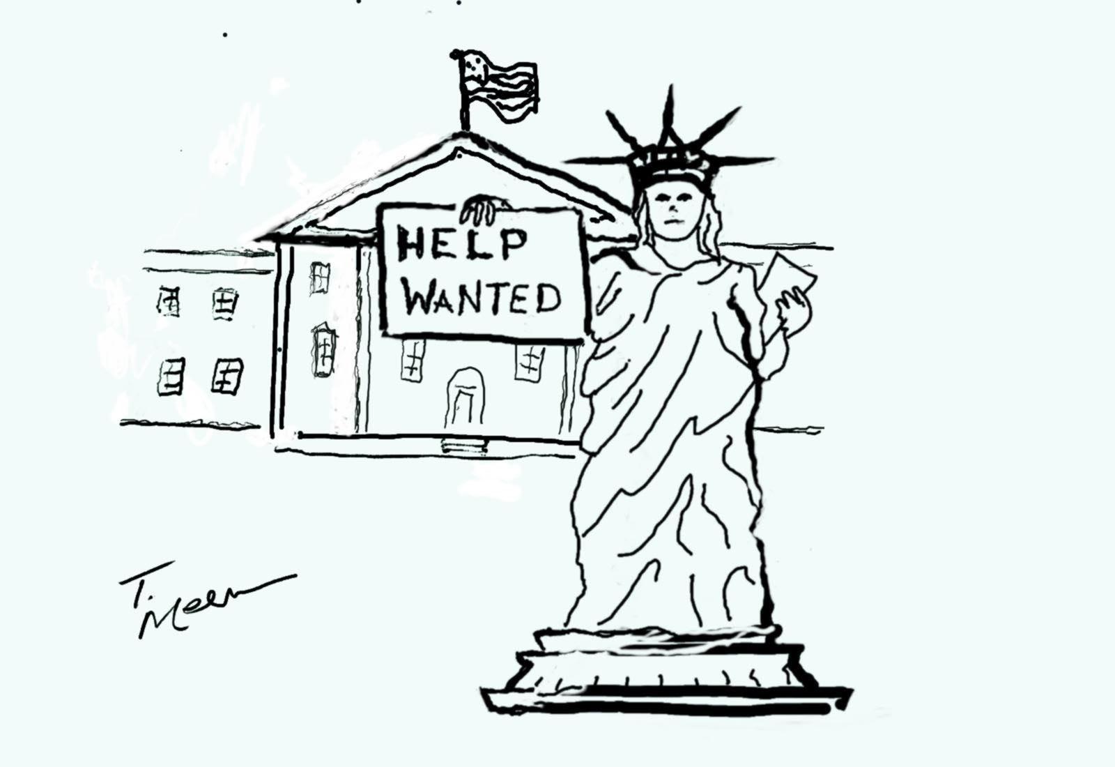 Cartoon by Tom Mercer.