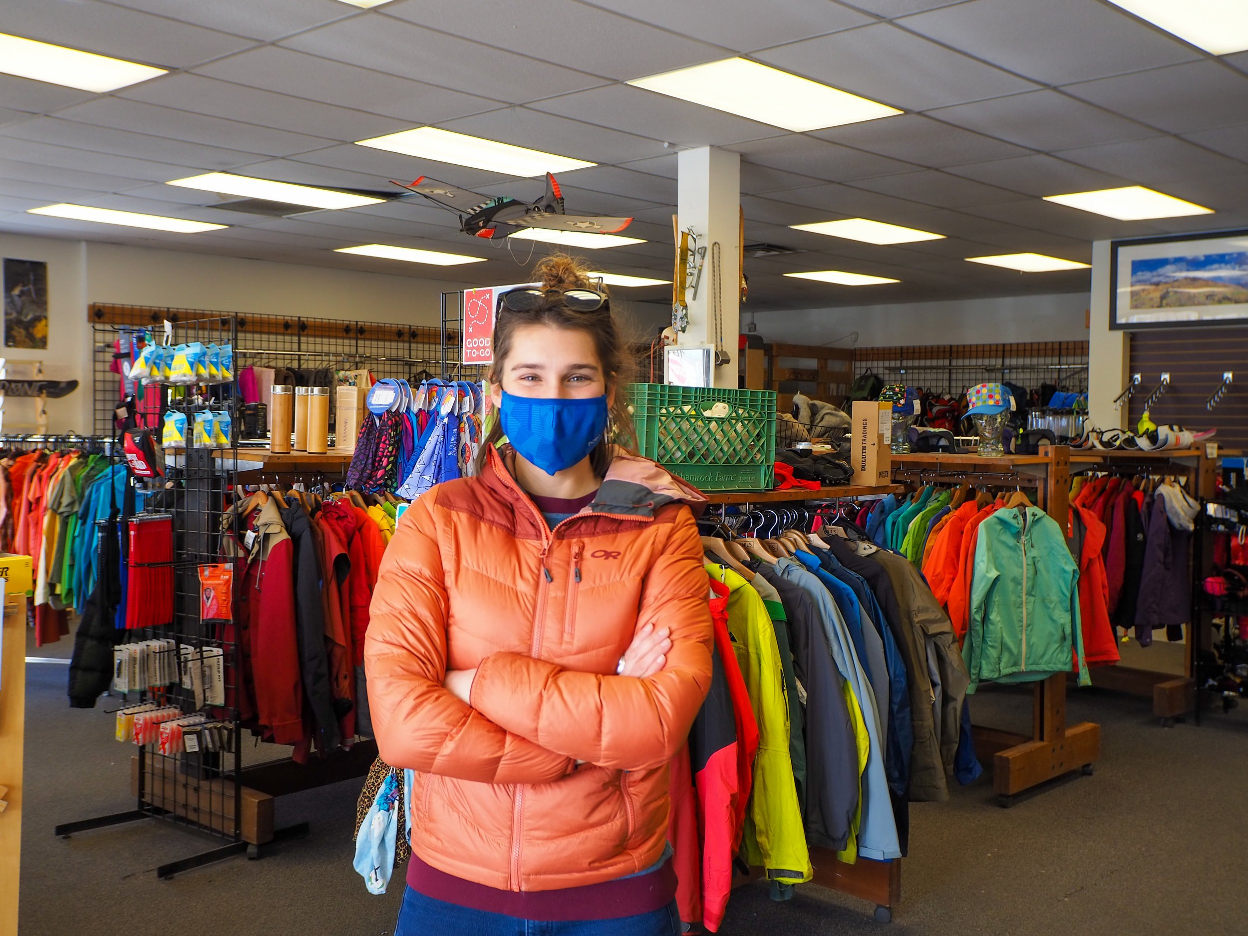 Aisha Weinhold has owned and operated Ragged Mountain Sports for ten years in the Sopris Shopping Center. Photo by Raleigh Burleigh.