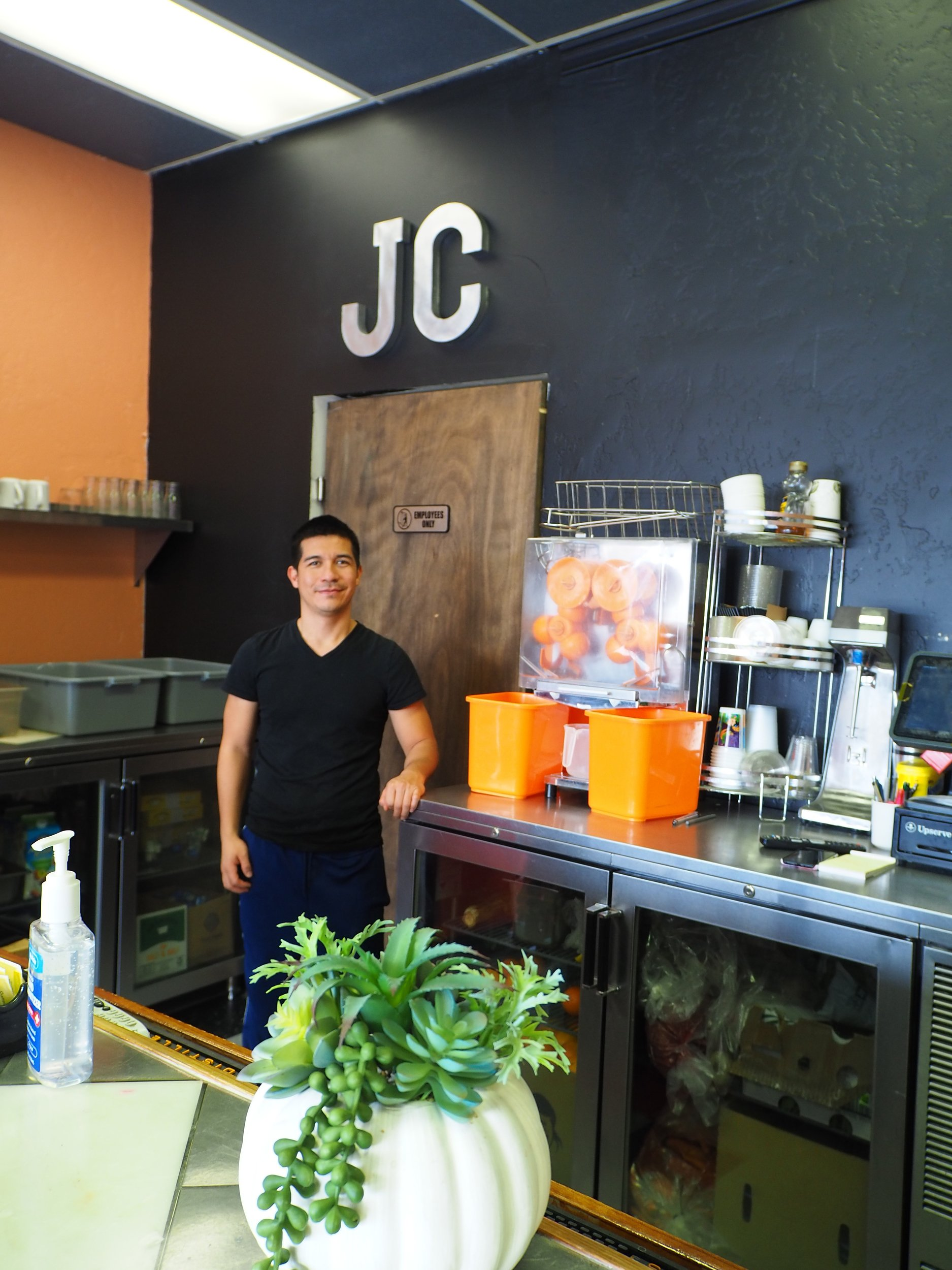 Trino Camacho Torres opened JC's Breakfast and Lunch in Dec. 2019. Photo by Raleigh Burleigh.