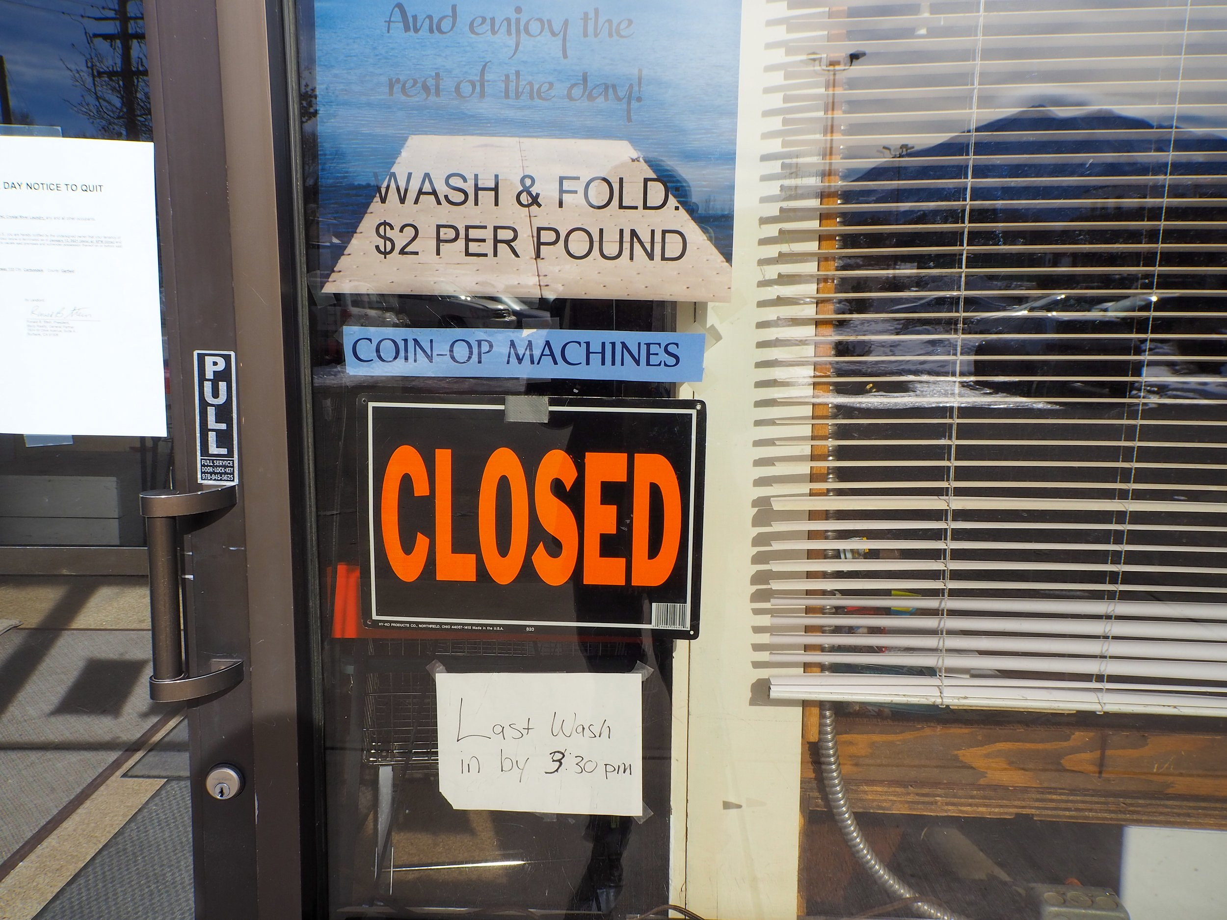 Sopris Laundry was evicted on Jan. 12. Photo by Raleigh Burleigh.