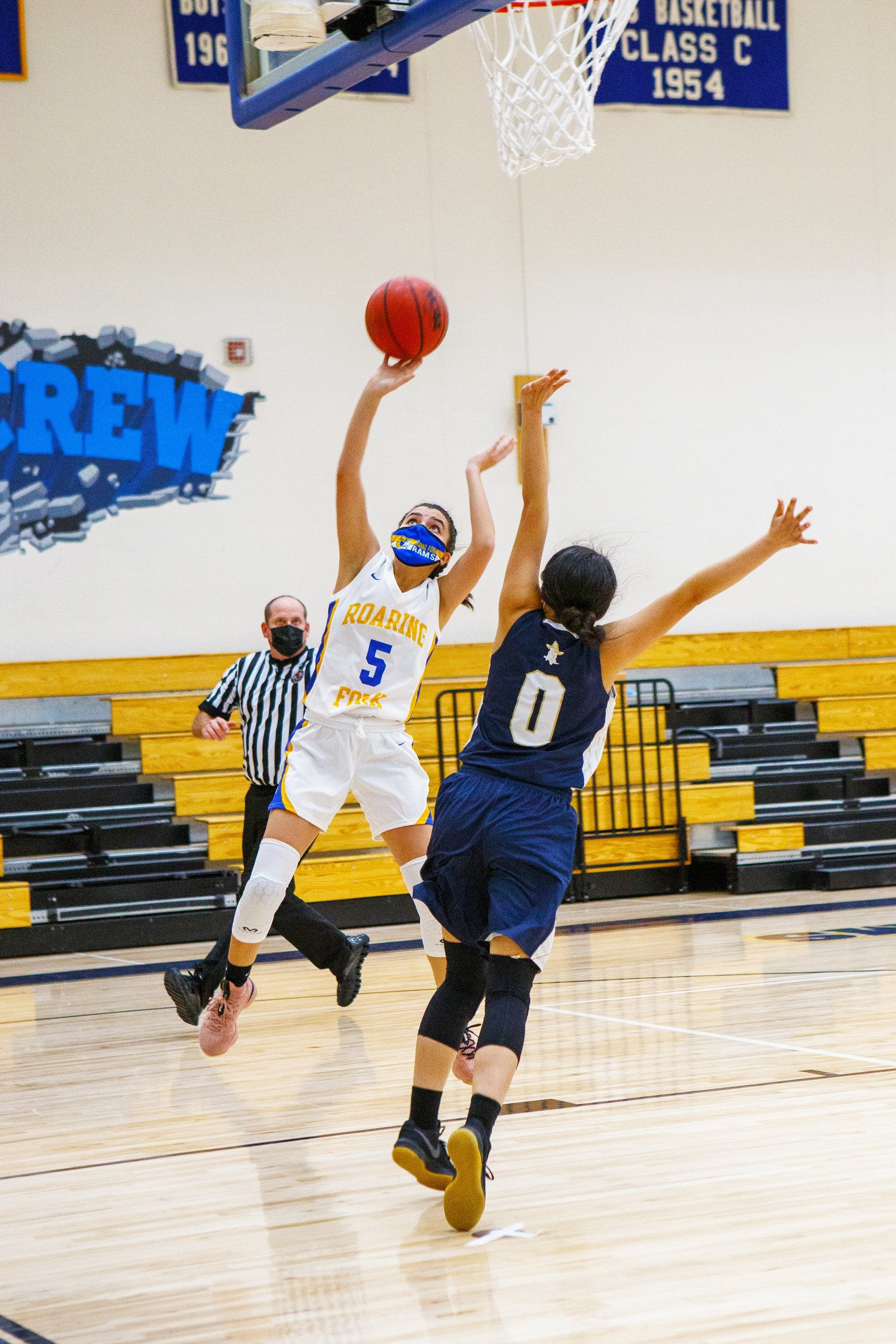 RFHS junior Genesis Quintero makes a shot against Olathe.