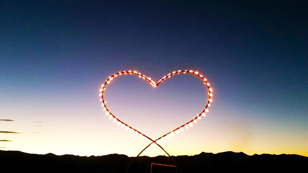 """""""My Heart's on Fire,"""" fire sculpture by Keith D'Angelo. Courtesy photo."""