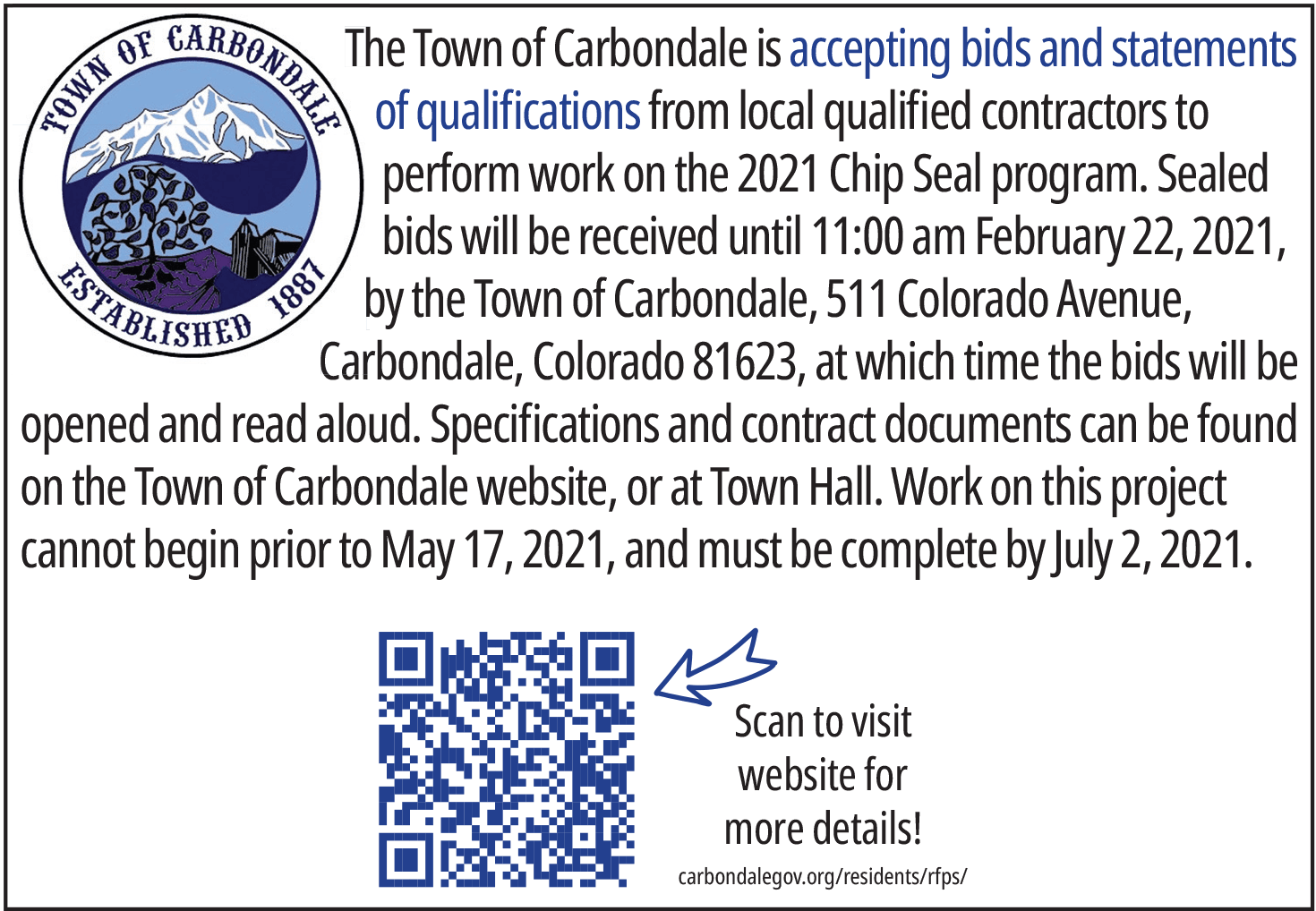 Town of Carbondale Chip Seal 2021 thumbnail