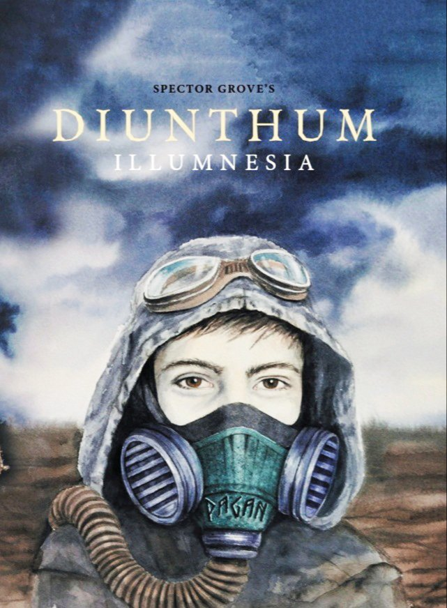 """""""Diunthum: Illumnesia"""" cover art features the main character, Pagan, wearing a """"breather."""" Courtesy photo."""