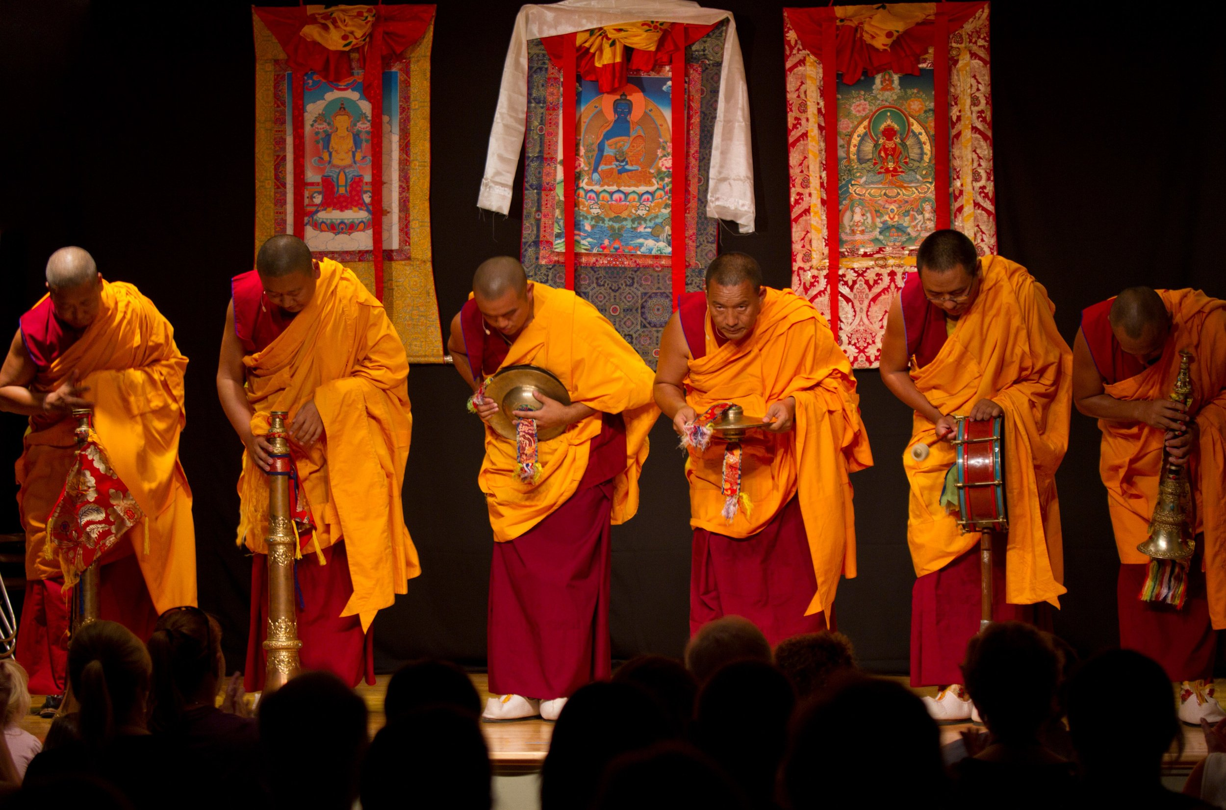 Tibetan monks bless Compassion Center reopening thumbnail