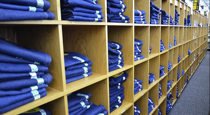 Wall of jeans