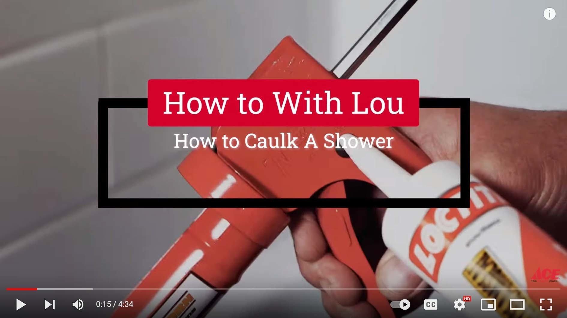 How to Caulk a Shower