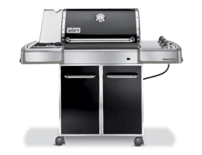 Black and Stainless Weber Genesis Grill