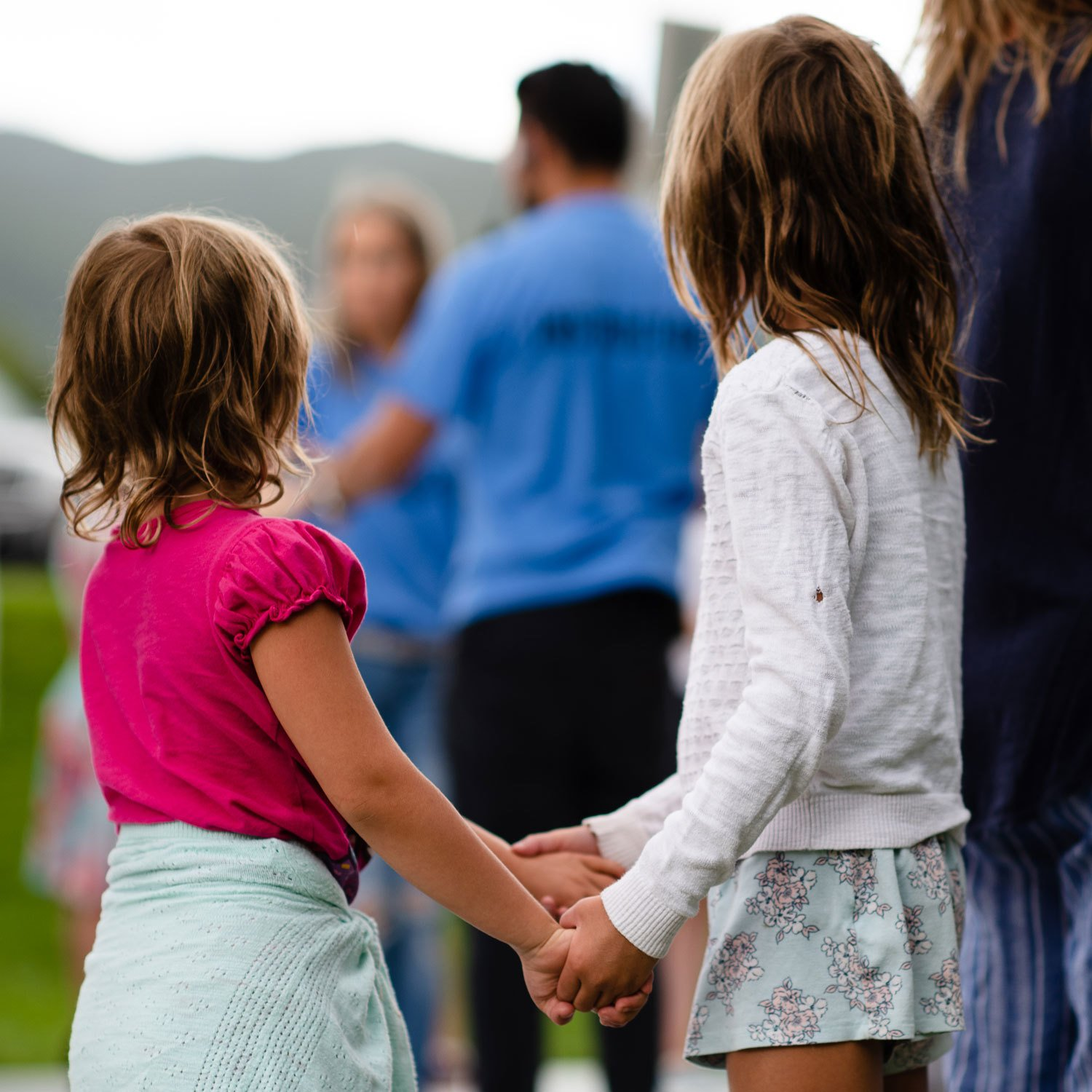Children holding hands at Basalsa, Photo Sopris Media