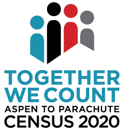 Aspen to Parachute 2020 Census logo