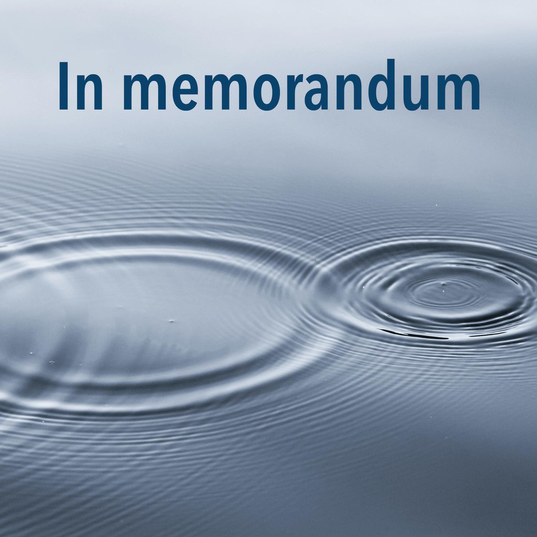 In memorandum, photo by Linus Nylund on Unsplash