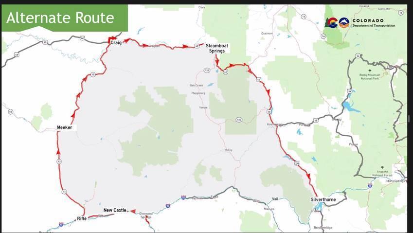 2021 Glenwood Canyon Detours