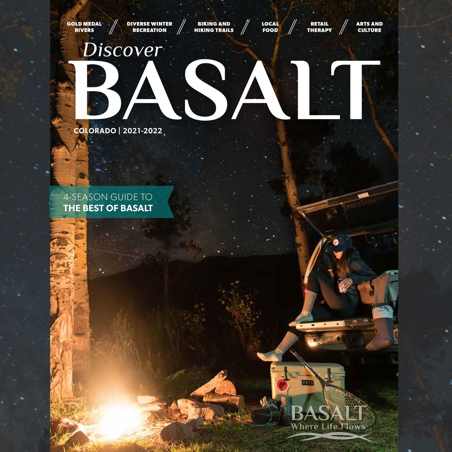2021 Discover Basalt magazine cover; photo by Shannon Outing