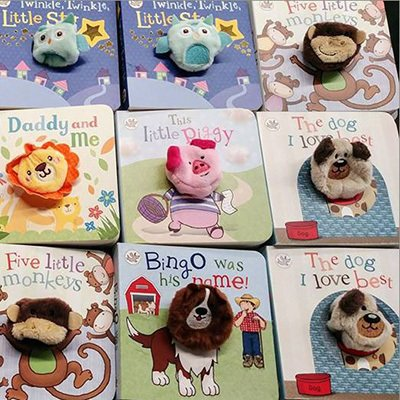 Picture of children's finger puppet books.