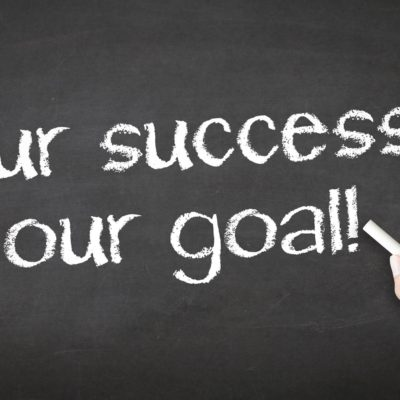 Your success is our goal written in chalk