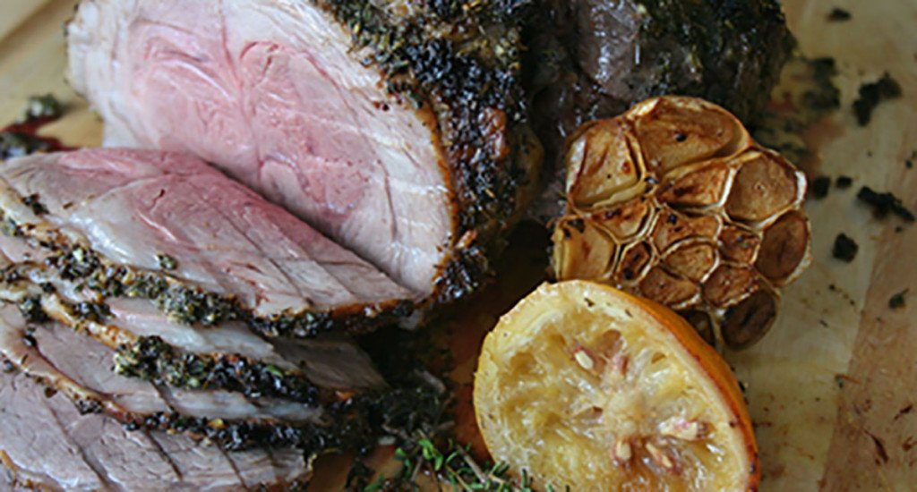Garlic, Herb and Lemon Roasted Leg of Lamb thumbnail
