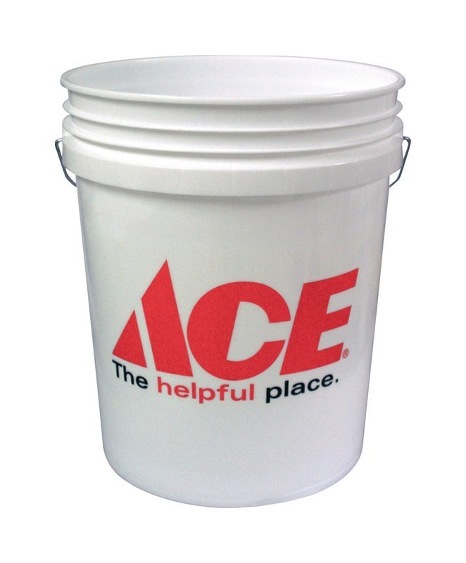 Ace 5 gal. Plastic Bucket White thumbnail