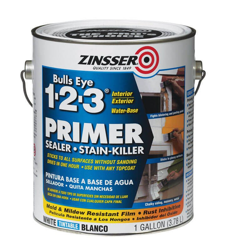 Zinsser Bulls Eye 123 White Primer and Sealer For All Surfaces 1 gal. thumbnail
