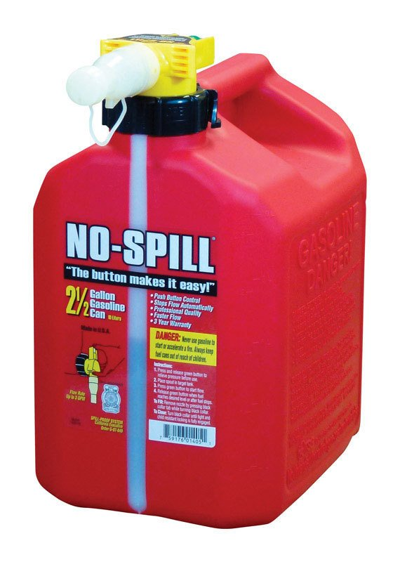 Plastic No Spill Gas Can 2.5 Gal thumbnail
