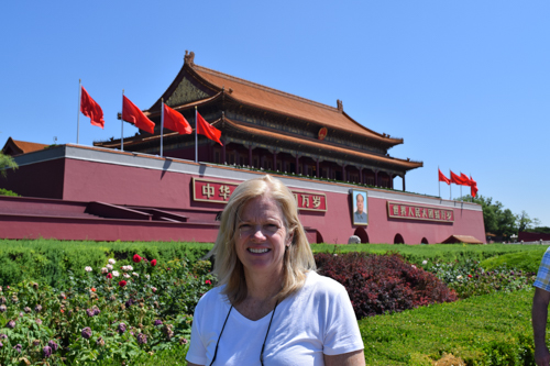 Anne at Forbidden City, located in the center of Beijing, China