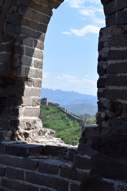 View from one of the many towers of the Great Wall, north of Beijing