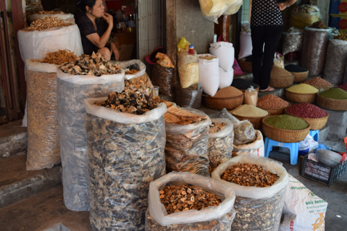 Dried Mushroom shop in Hanoi