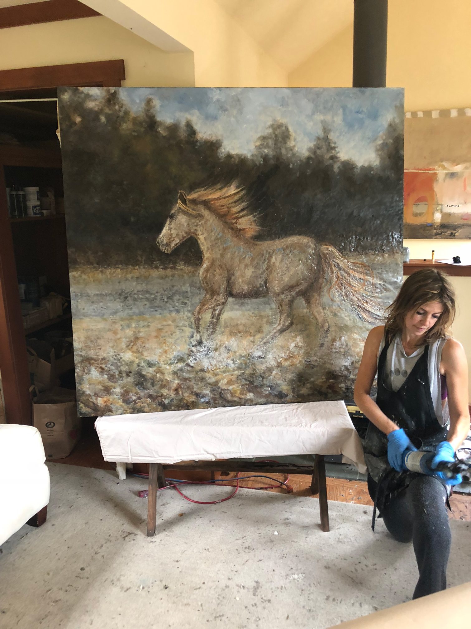 Theresa in her Studio